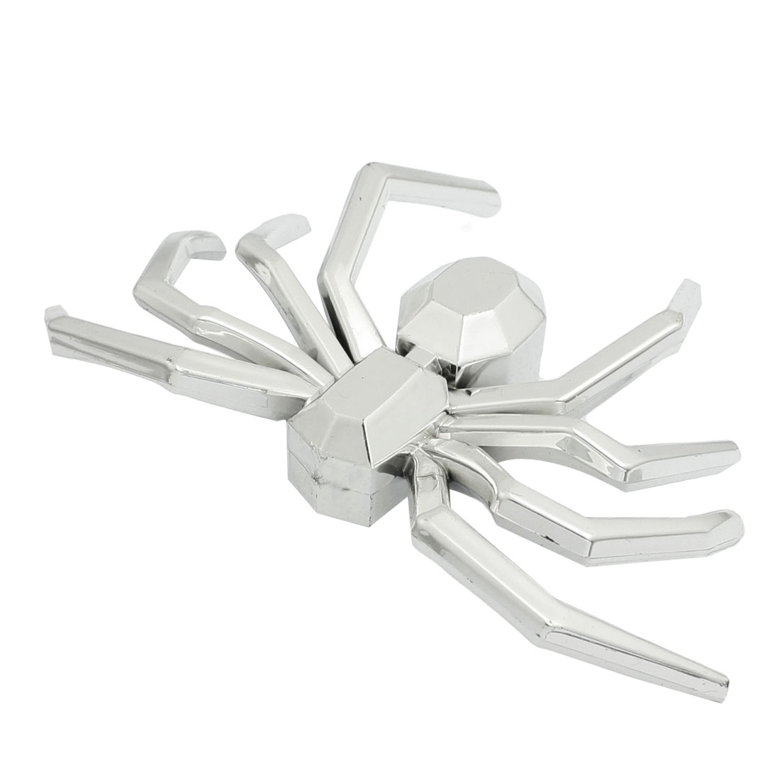 Car Decorative Silver Tone 3D Spider Sticker Badge Ornament