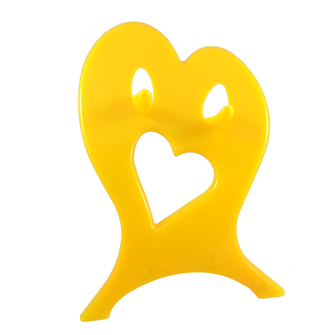 Home Hair Salon Yellow Plastic Blow Dryer Holder Bracket Stand