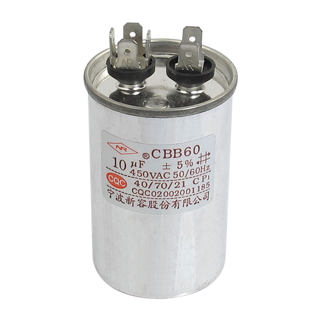 AC 450V 10uF Air Conditioner Motor Run Capacitor CBB60