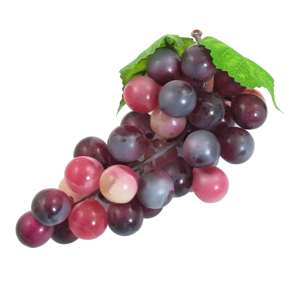 Soft Plastic Burgundy Bunch Artificial Grapes Fruit Home Decoration