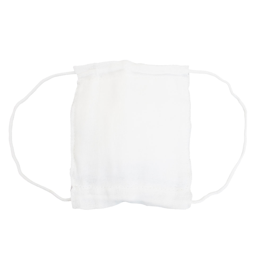14cm x 17.5cm Washable Health White Gauze Coverd Face Mouth Mask