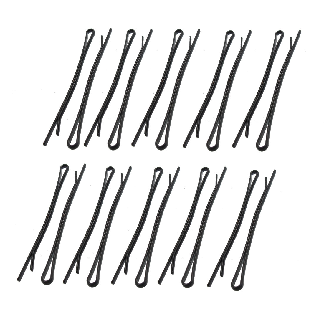 Women DIY Hairstyle Metallic Hair Bobby Pin Clip Clamps Black 20 Pcs