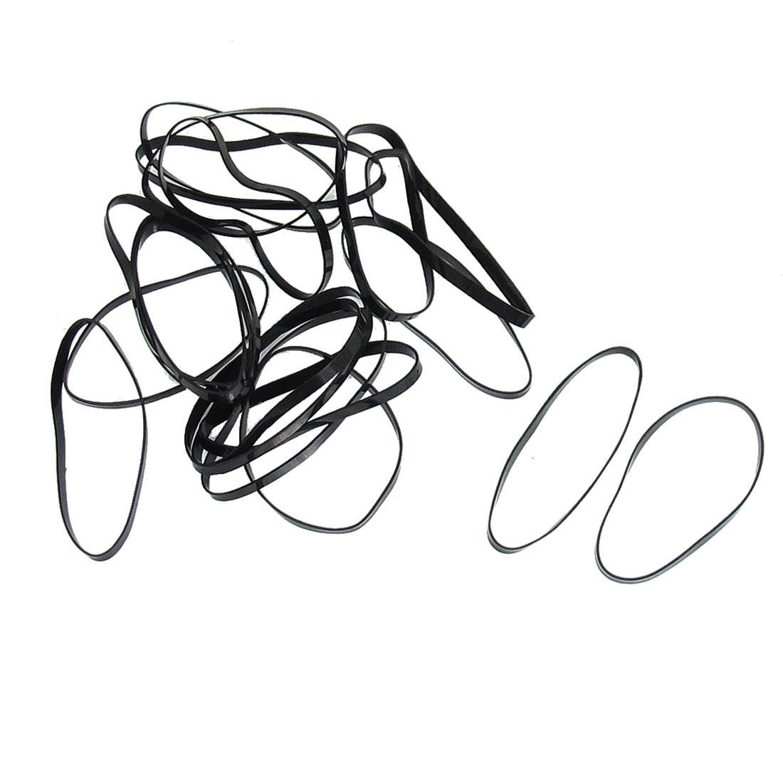 Lady Black Ponytail Braids Holder Stretchy Rubber Hairband Tie 80 Pcs