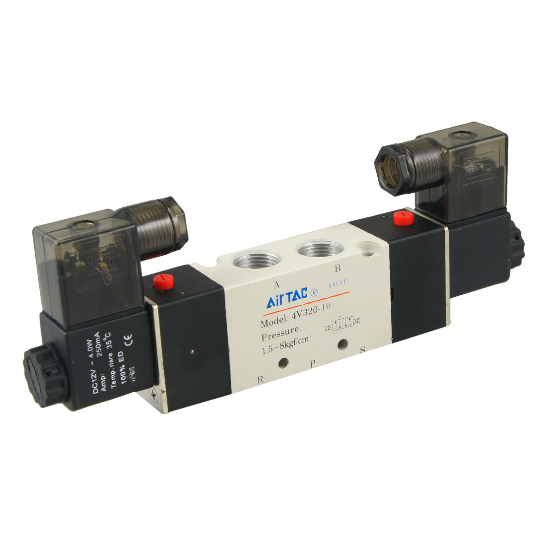4V320-10 DC 12V 2 Positions 5 Ways Air Control Solenoid Valve