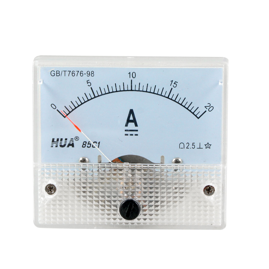 85C1 DC 0-20A Rectangle Analog Amperemeter Panel Meter Gauge
