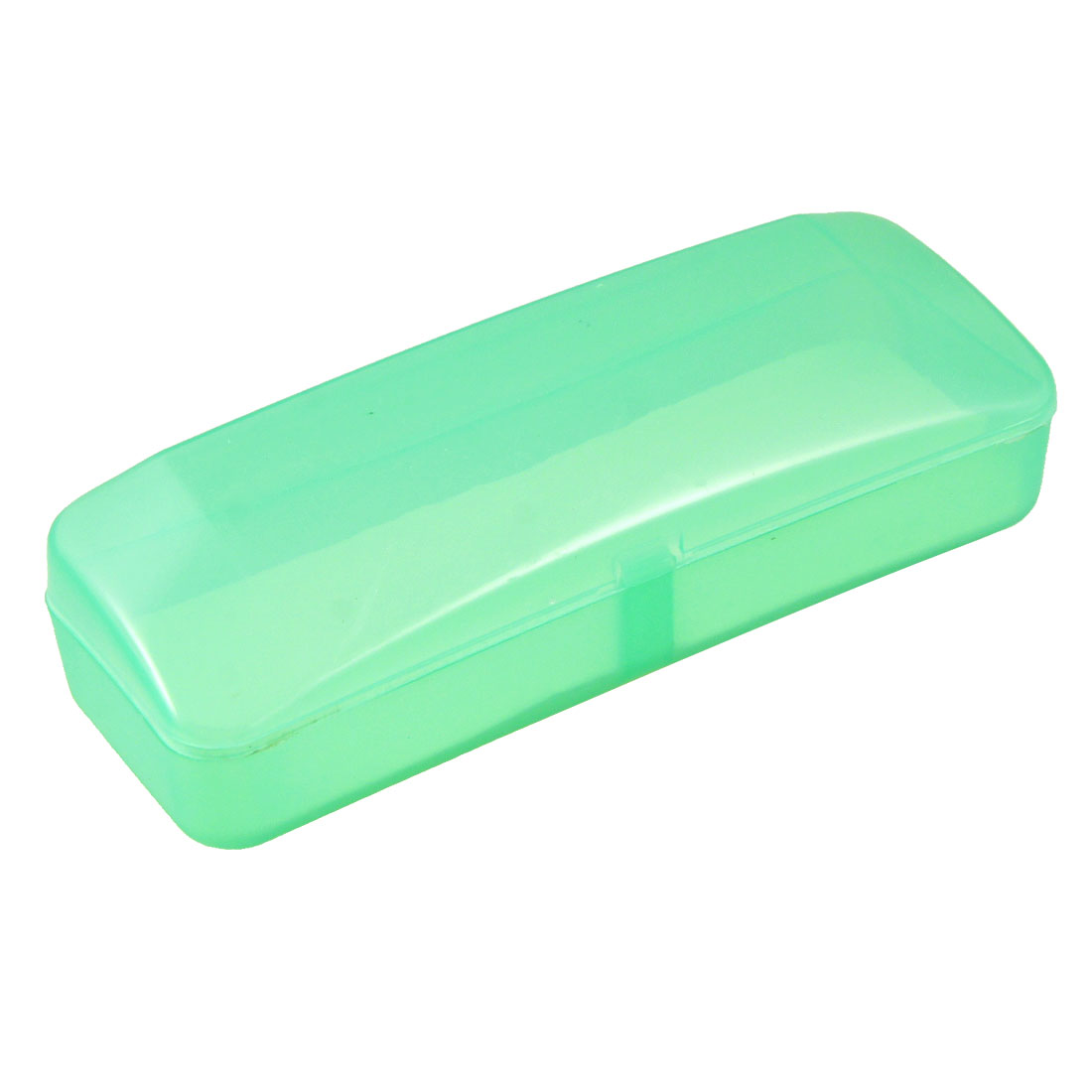 "Plastic Clear Green Rectangular Eyeglasses Case Storage Box 5.9"" Long"