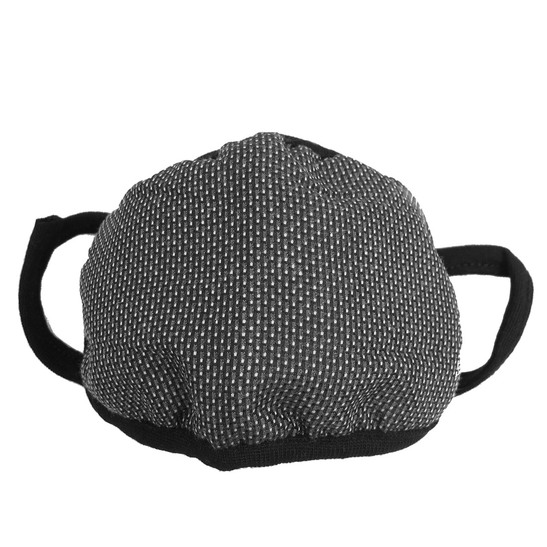 Black White Dotted Pattern Knitted Face Nose Mask Muffle for Ladies