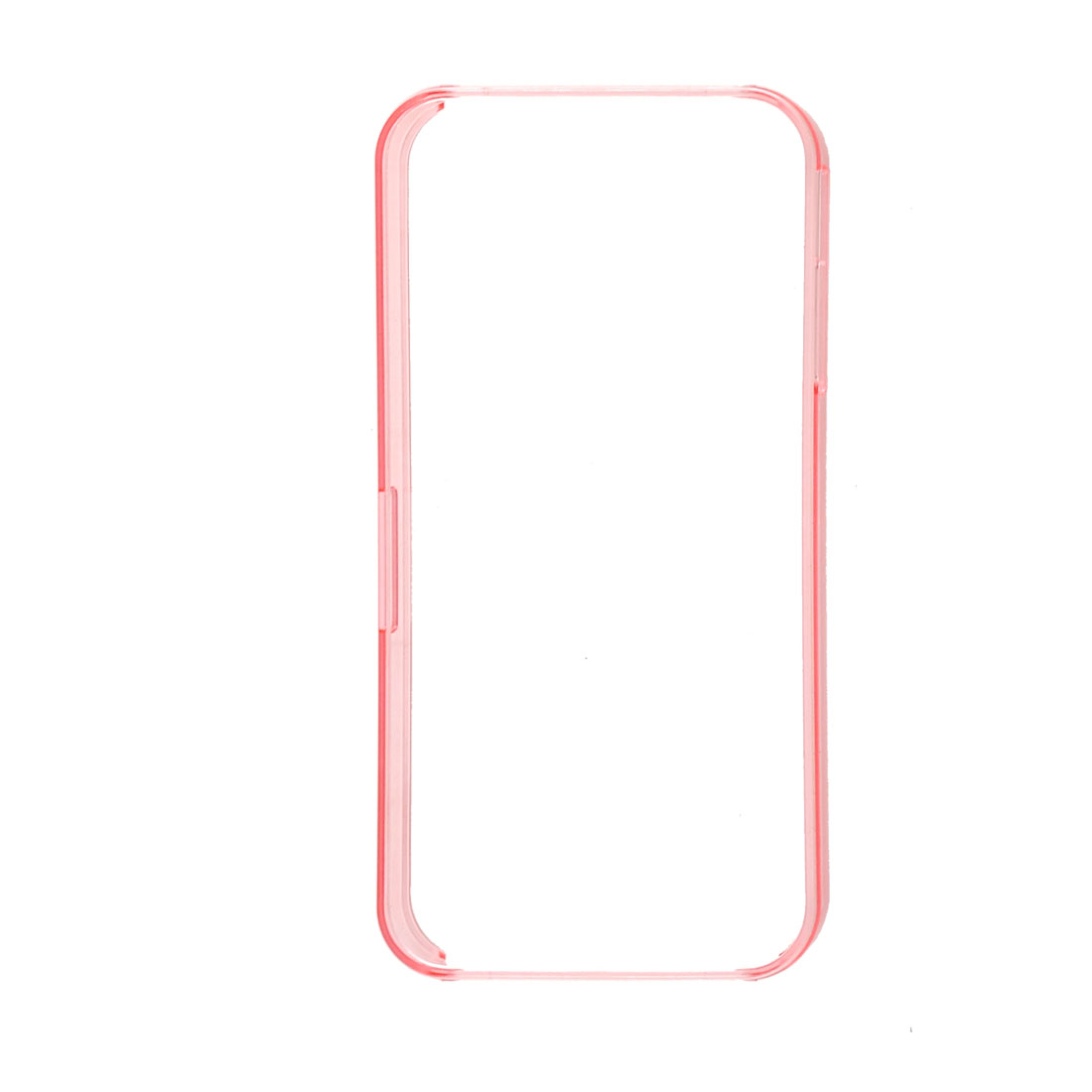 Clear Pink Plastic Frame Bumper Rim Bumping Protective Case for iPhone 4S 4GS