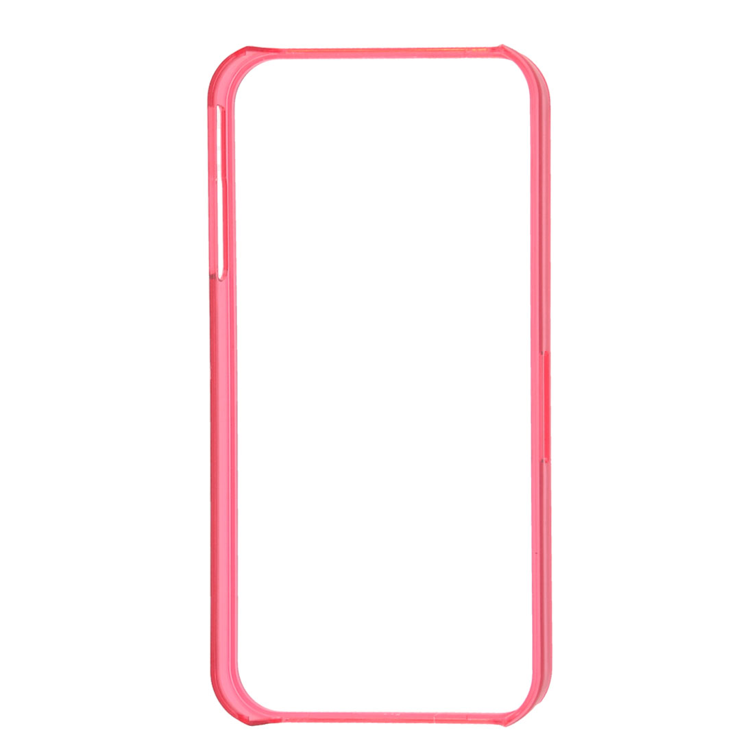 Clear Fuchsia Plastic Bumping Protective Bumper Rim Cover for iPhone 4S 4GS