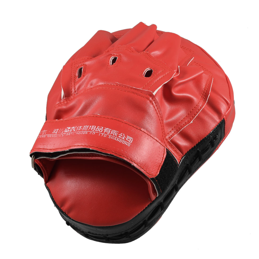 Fitness Boxing Red Faux Leather Hand Target Kickboxing Pad