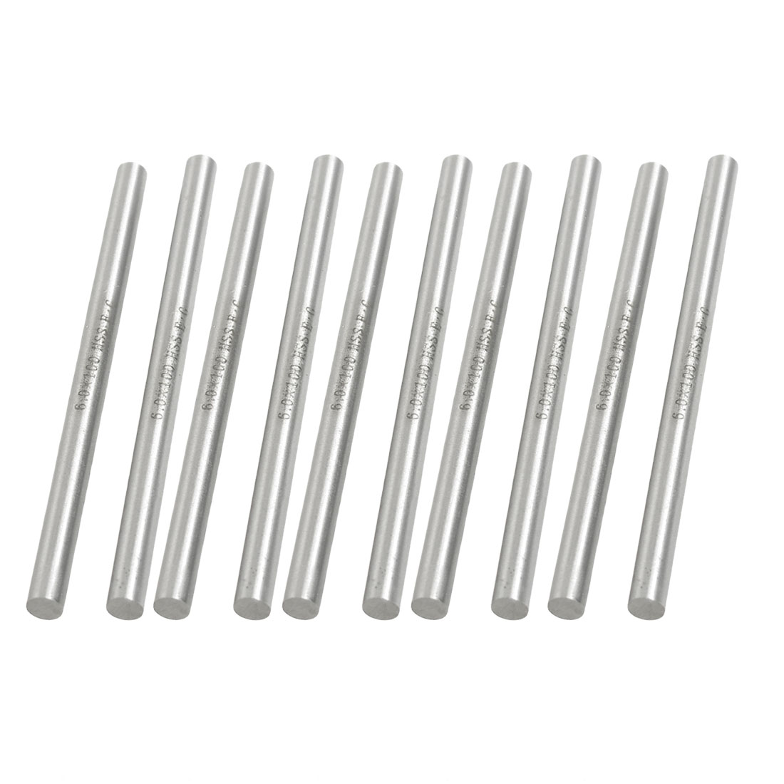 10 Pcs High Speed Steel Lathe Round Bar Milling Cutter 6mm x 100mm