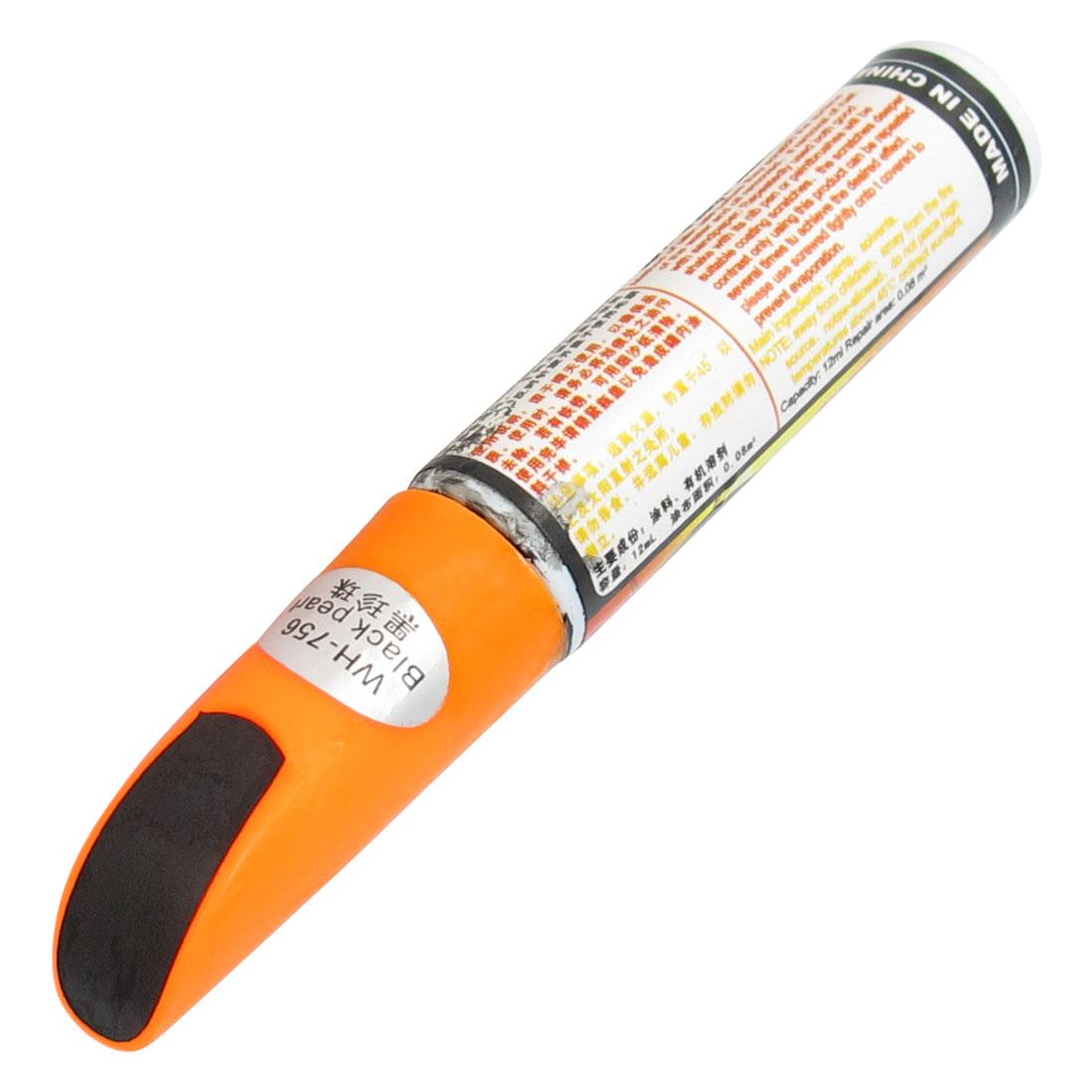 Black Pearl Vehicle Car Scratch Repairing Touch Up Paint Pen w Orange Cap