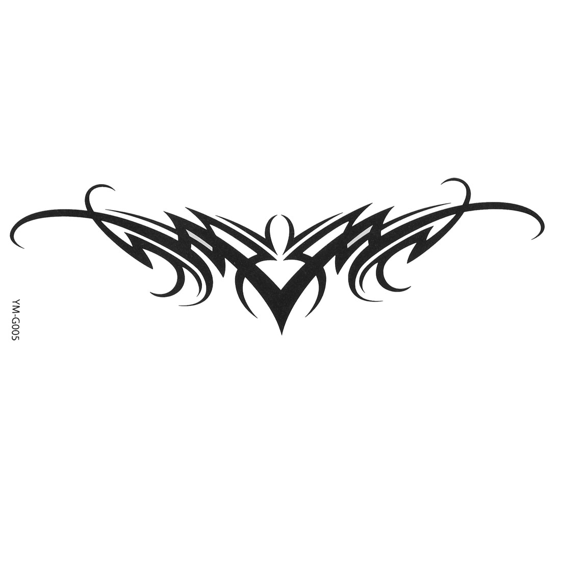 Black Letter V Design Transfer Tribal Tattoos Seal Skin Beauty Decal