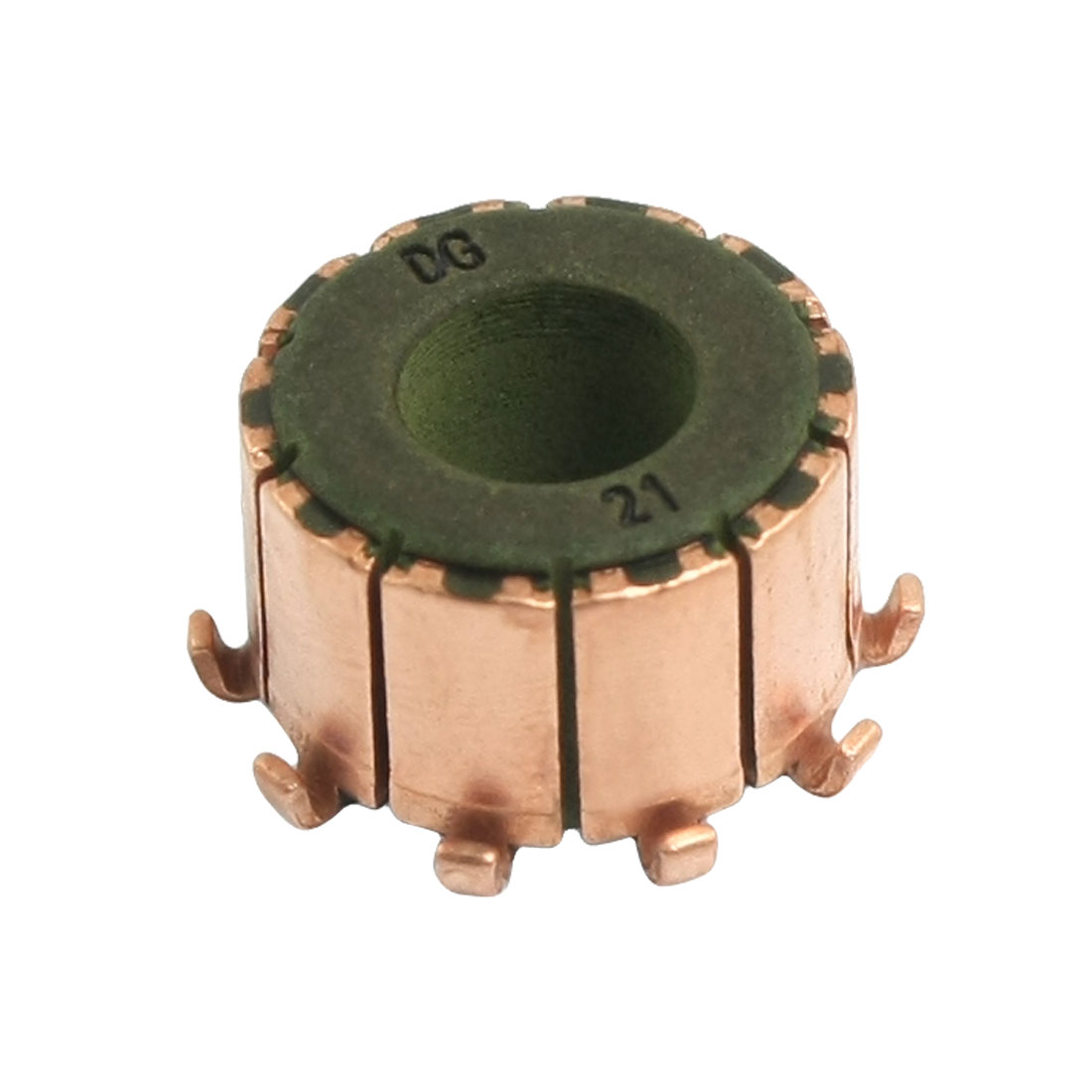 7.14mm x 15mm x 10mm 10 Gear Tooth Copper Shell Electric Motor Commutator