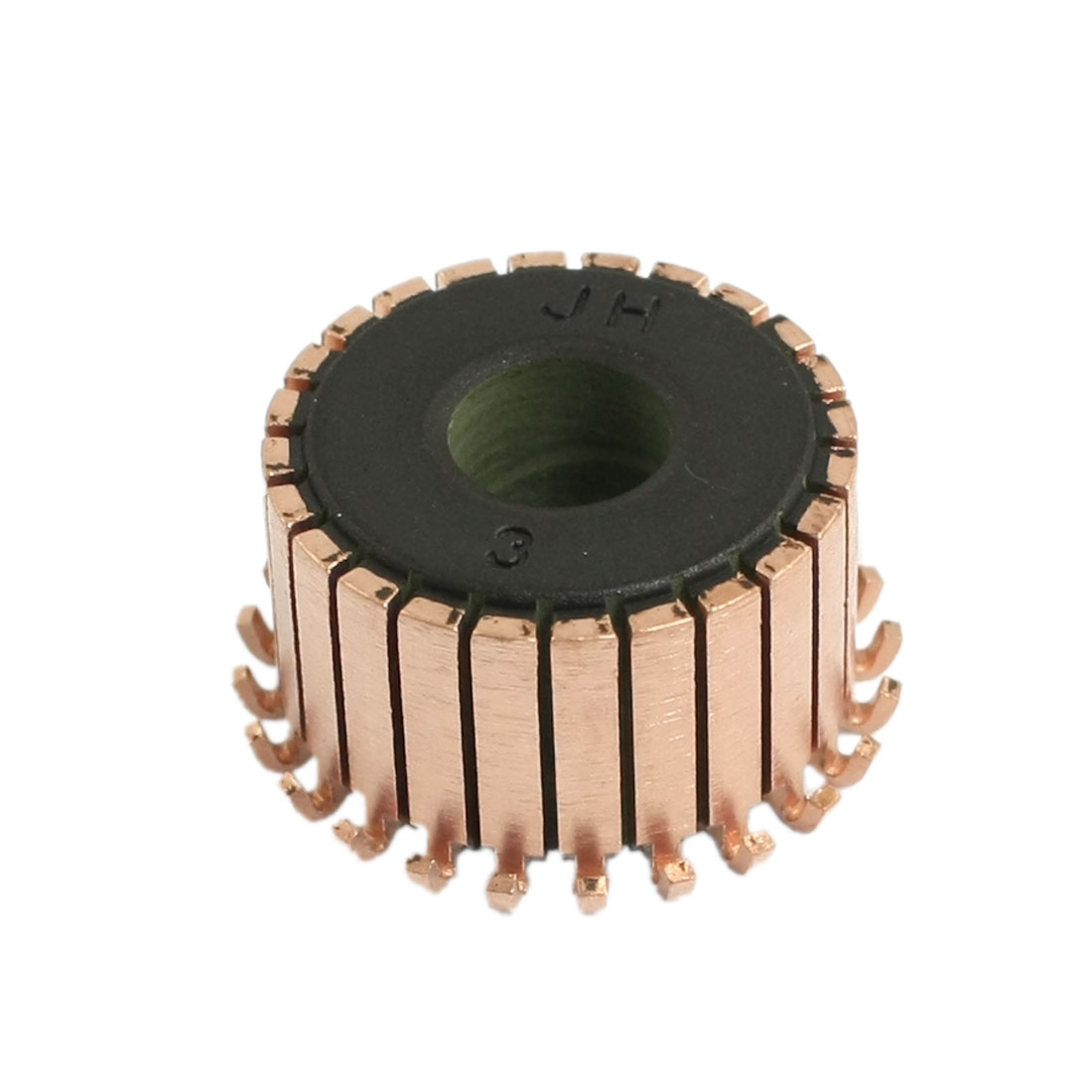 8mm x 21.5mm 24 Gear Tooth Copper Case Auto Alternator Motor Power Tool Commutator