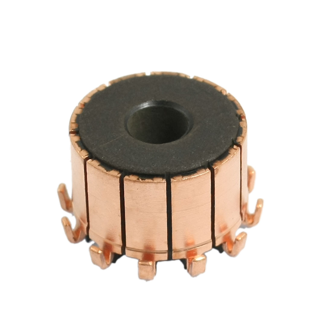 6.35mm x 18.9mm x 13.5mm 12 Gear Tooth Copper Shell Mounted On Armature Commutator