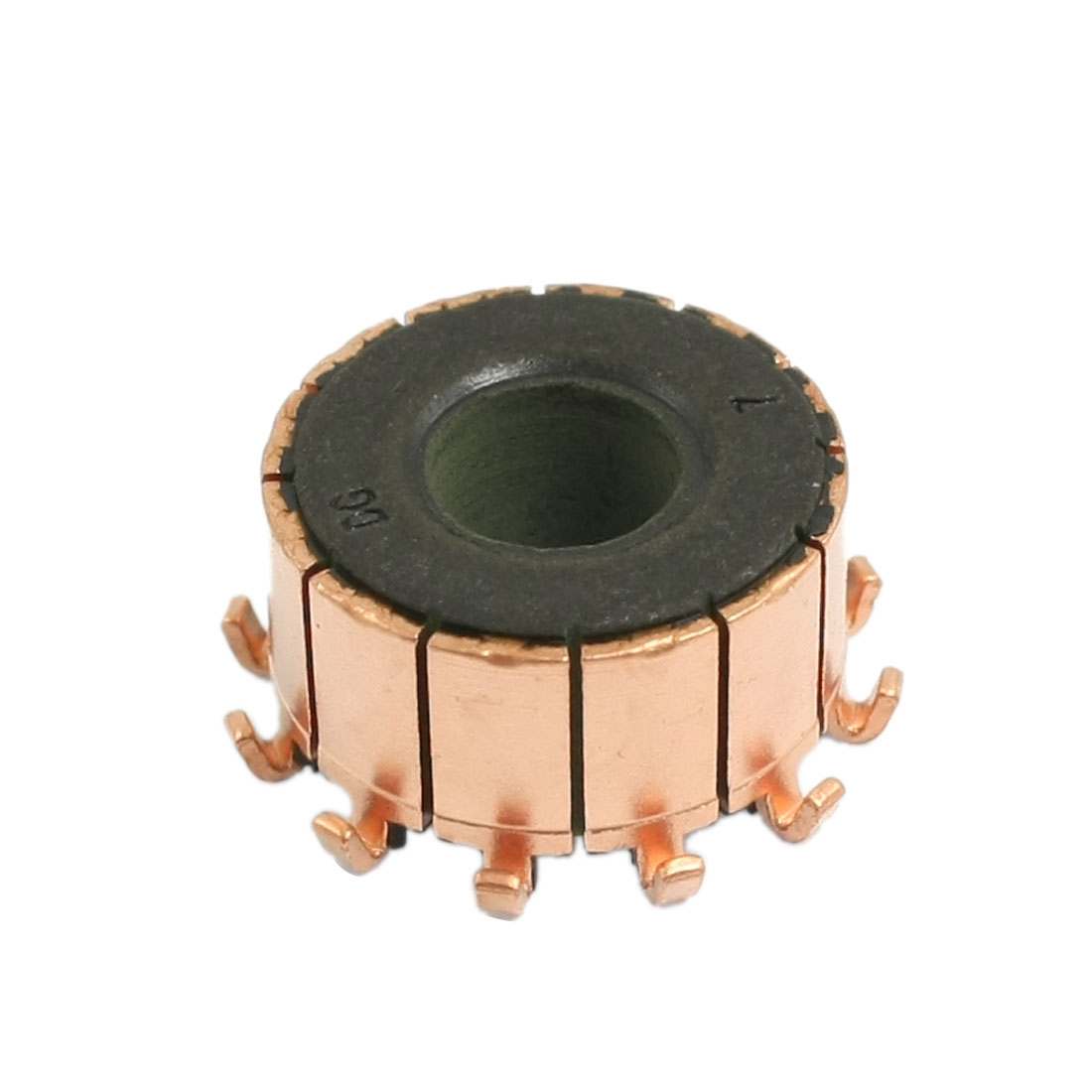 10mm x 18.9mm x 10.5mm 12 Gear Tooth Copper Shell Electric Motor Commutator