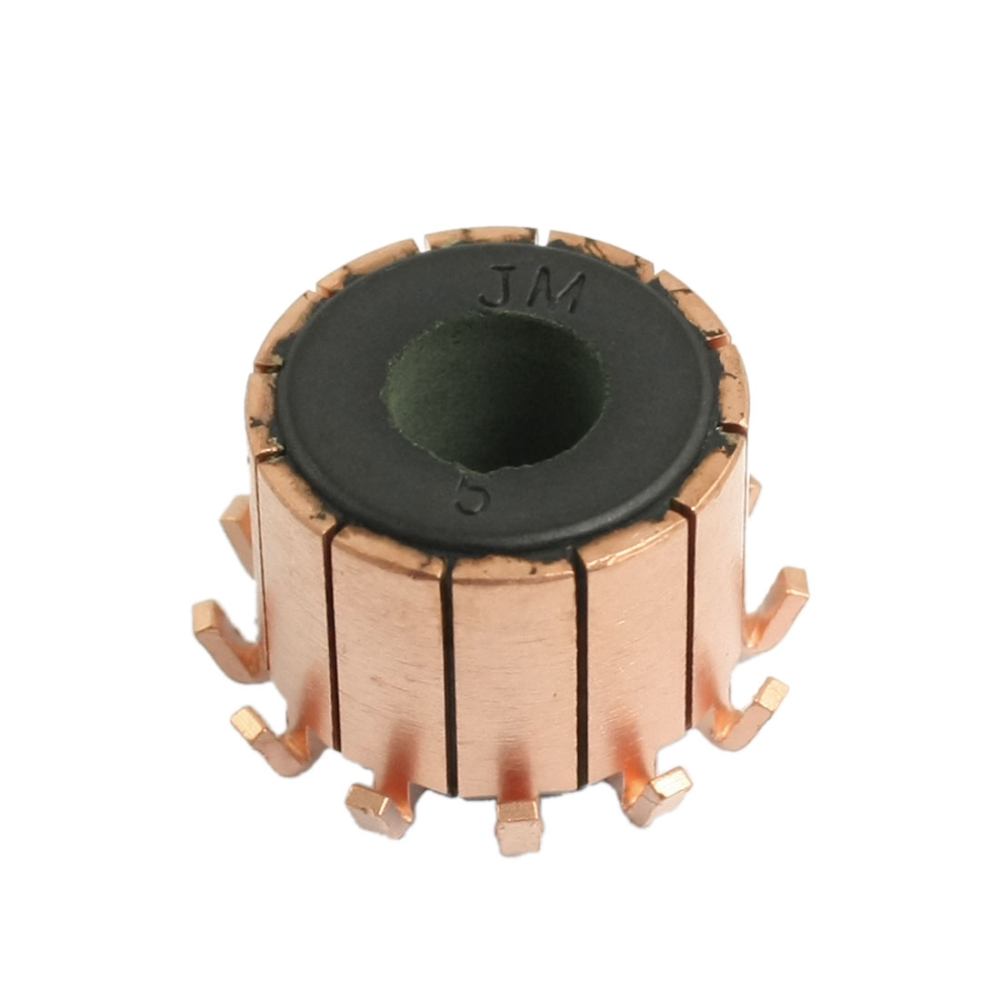 15.5mm Height 18.9mm OD 12 Tooth Copper Shell Electric Motor Commutator