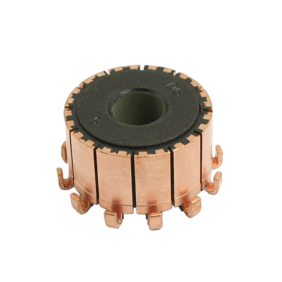 8mm x 23.2mm x 14.5mm 12 Gear Tooth Copper Shell Mounted On Armature Commutator