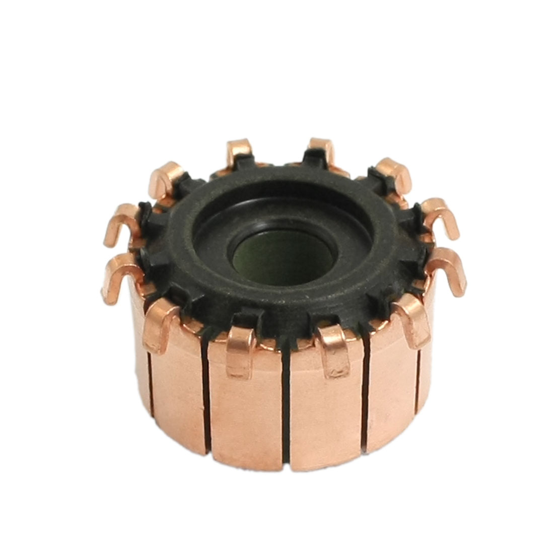 6mm x 18.9mm x 11.7mm 12 Gear Tooth Copper Shell Mounted On Armature Commutator