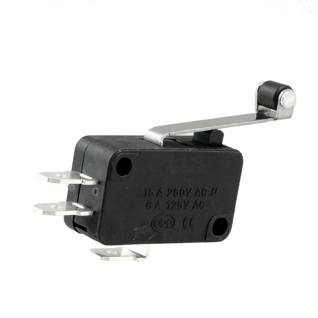 1NO+1NC Momentary AC250V/15A AC125V/6A Roller Lever Miniature Micro Switch