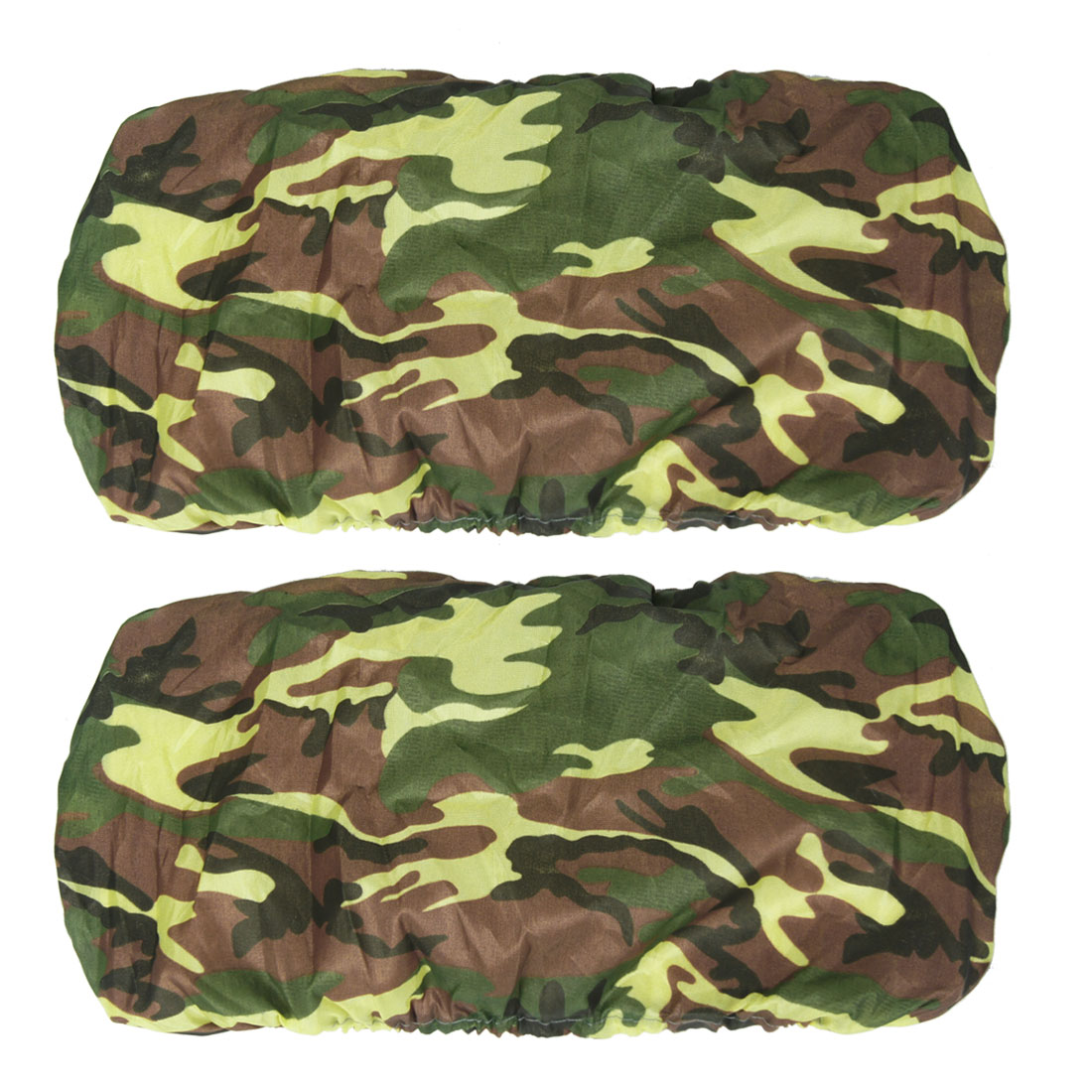 Auto Car Camouflage Pattern Number Plate Anti Dust Cover Protector 2 Pcs
