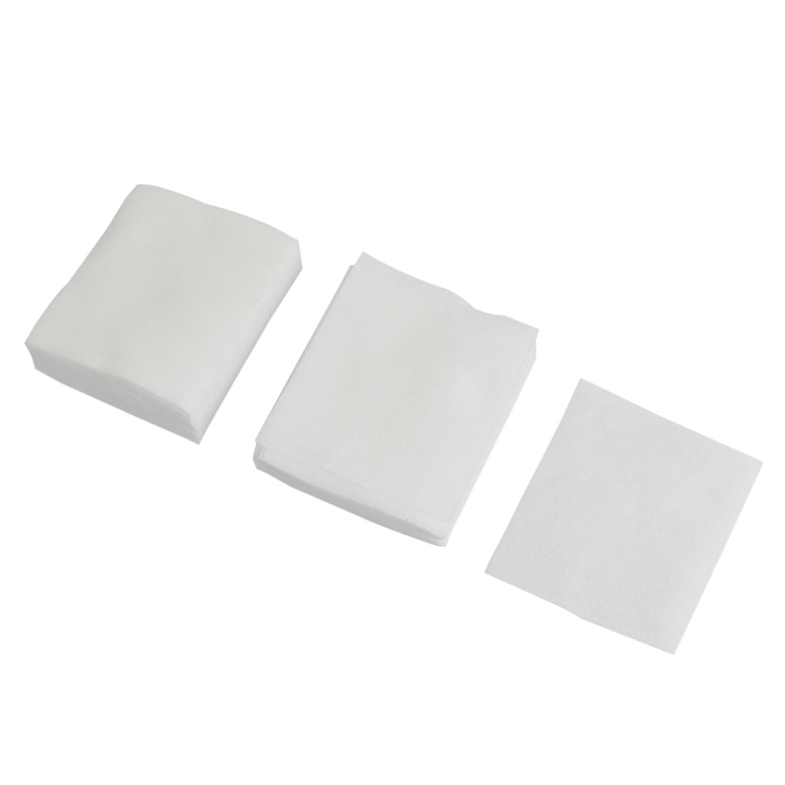 Womens White Soft Rectangle 71 x 61mm Facial Puff Cosmetic Pad 100 Pcs
