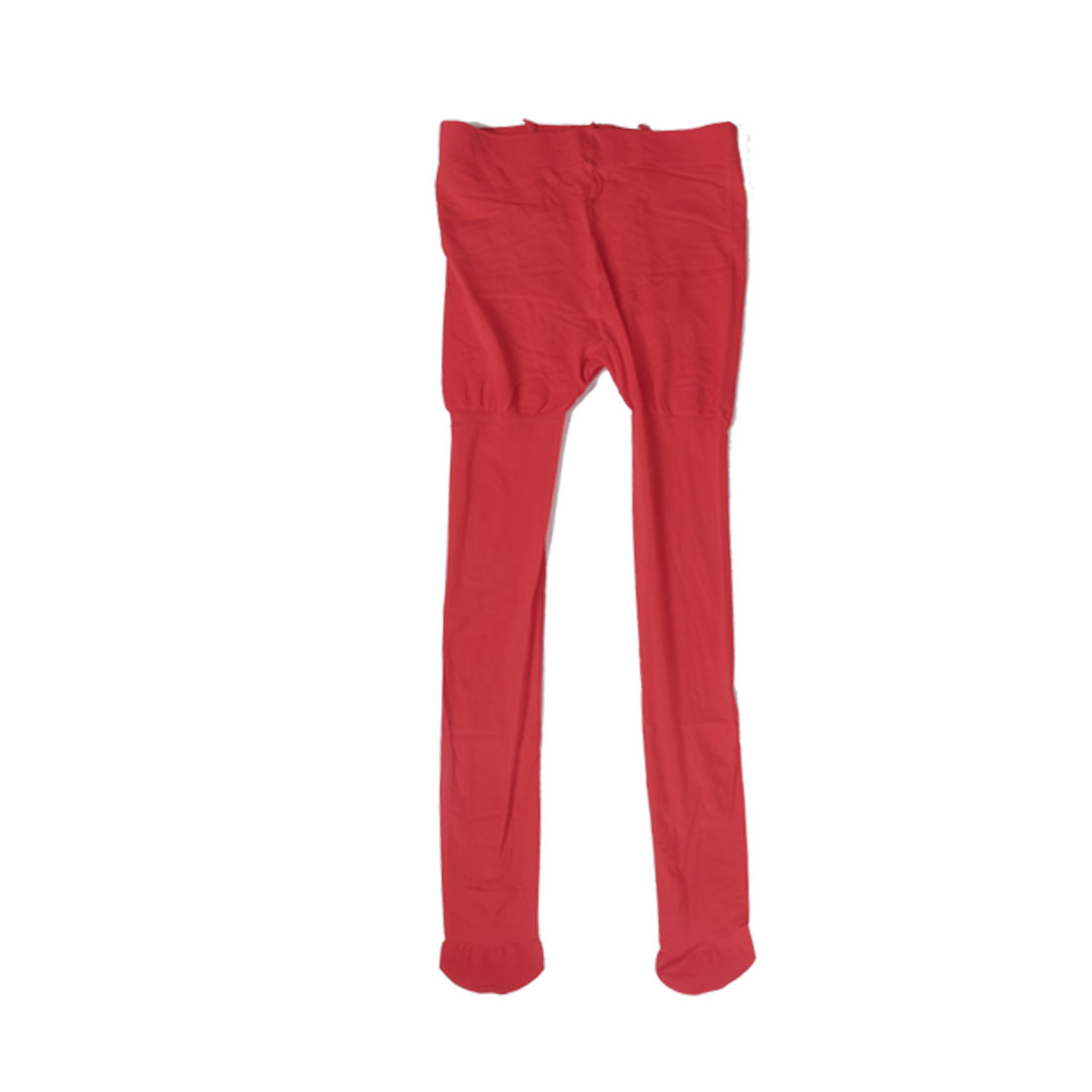 Women Sheer Footed Leggings Stretch Tights Red Thin Pantyhose XS