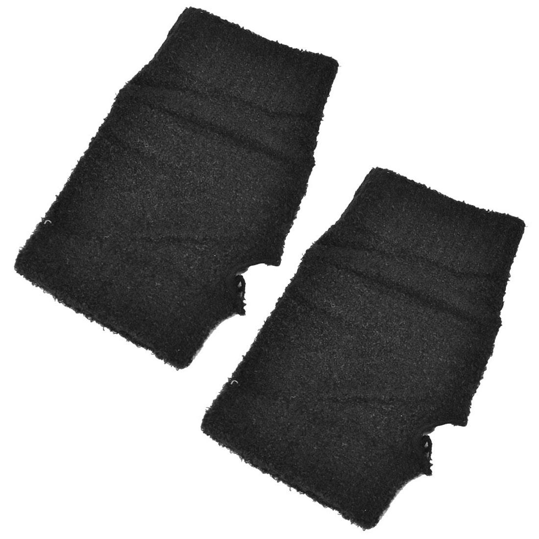 Women Soft Warm Acrylic Elastic Wrist Warmers Gloves Black 2pcs
