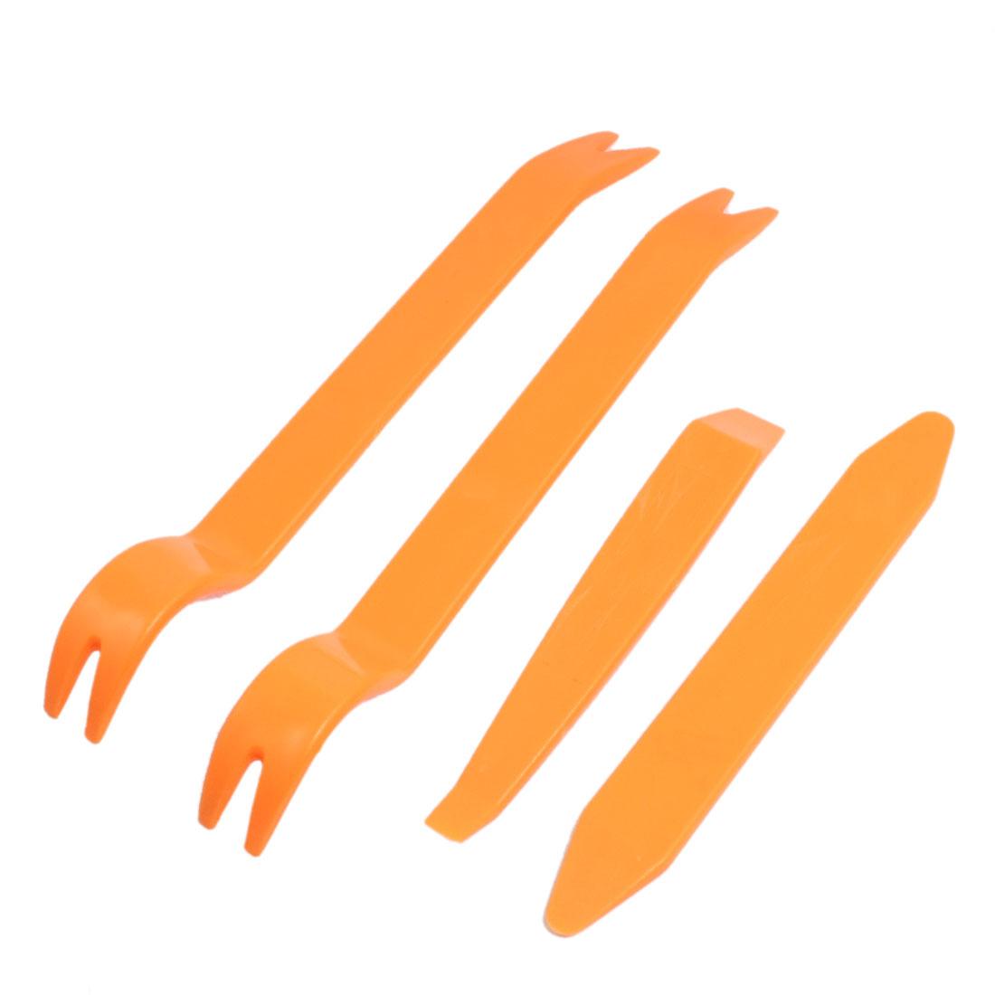 Orange Plastic AV System Dismantle Tools Refit Set 4 Pcs for Car