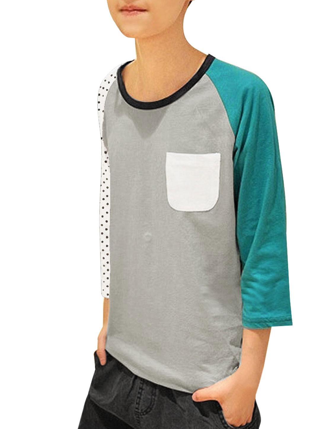Mens Light Gray Black Dots Printed New Fashion Bottoming Shirt S