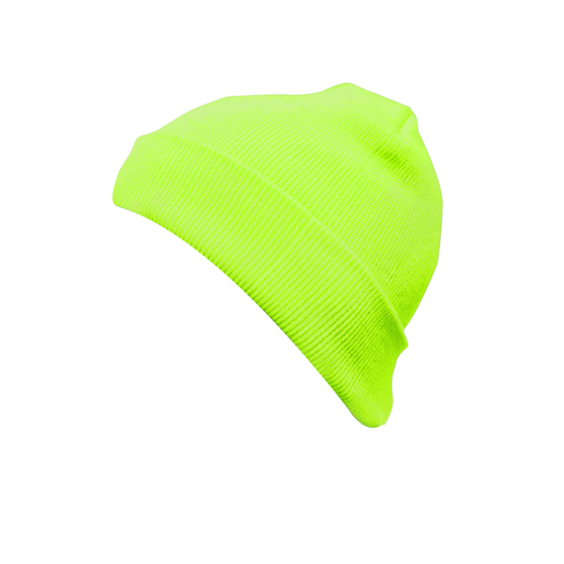 Unisex Fluorescein Color Leisure Knitting Simple Style Beanie Cap