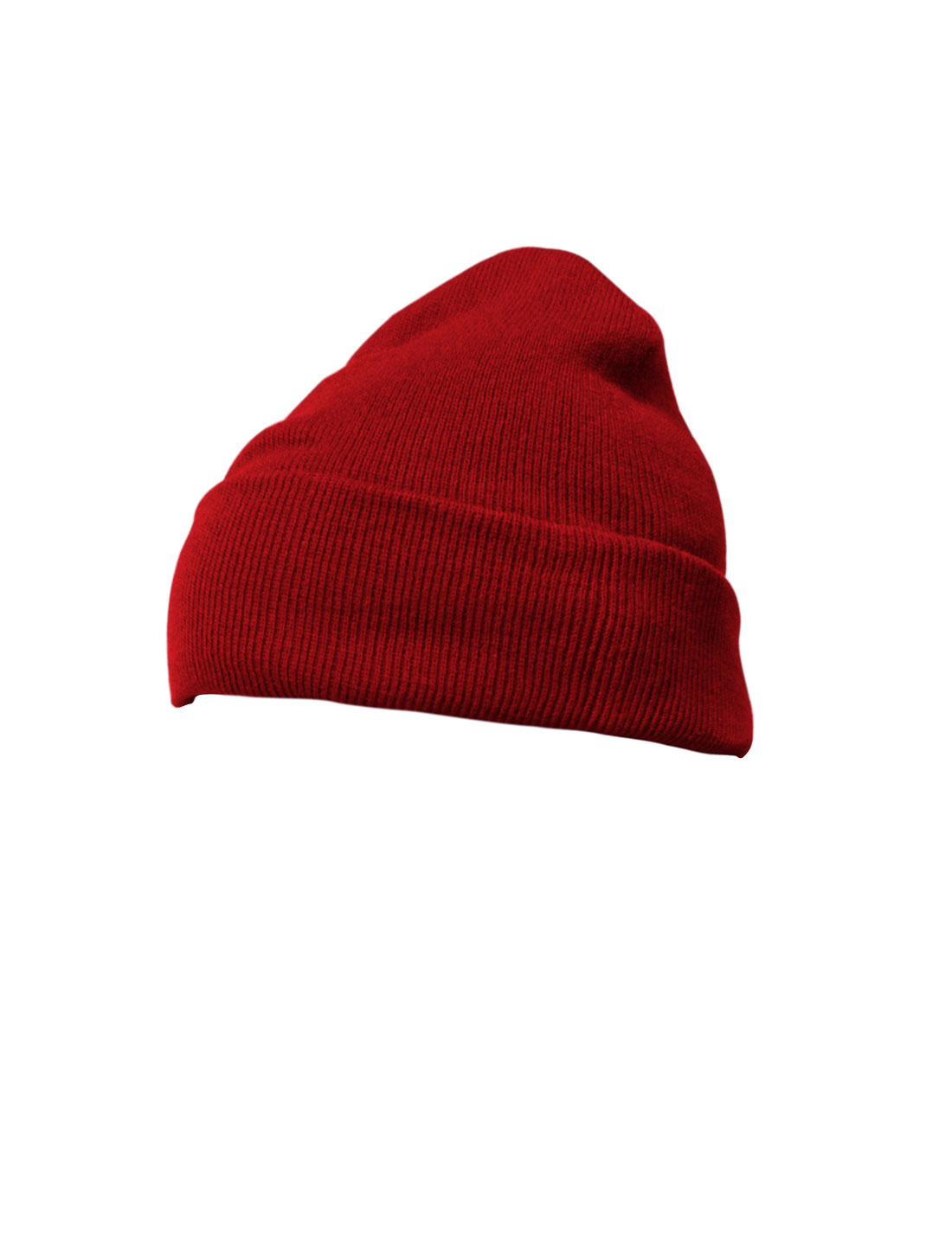 Mens Women Dark Red Knitting Winter Thick Basic Beanie Hat Cap
