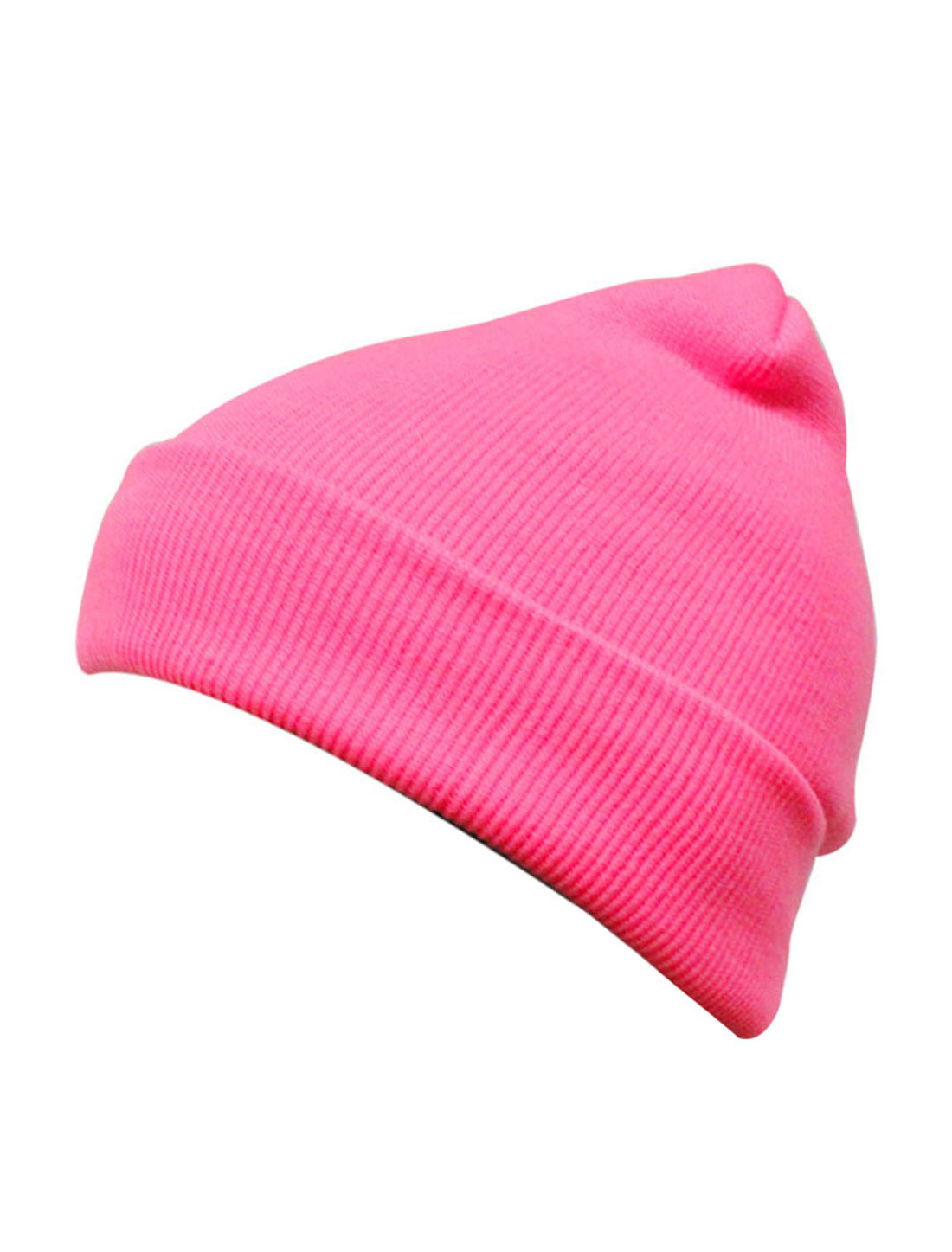 Unisex Fluorescent Pink Korea New Fashion Slouchy Headwear