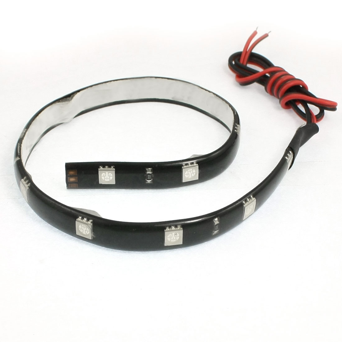 Car DC 12V Blue 5050 SMD 12-LED PVC Strip Light Lamp 30cm