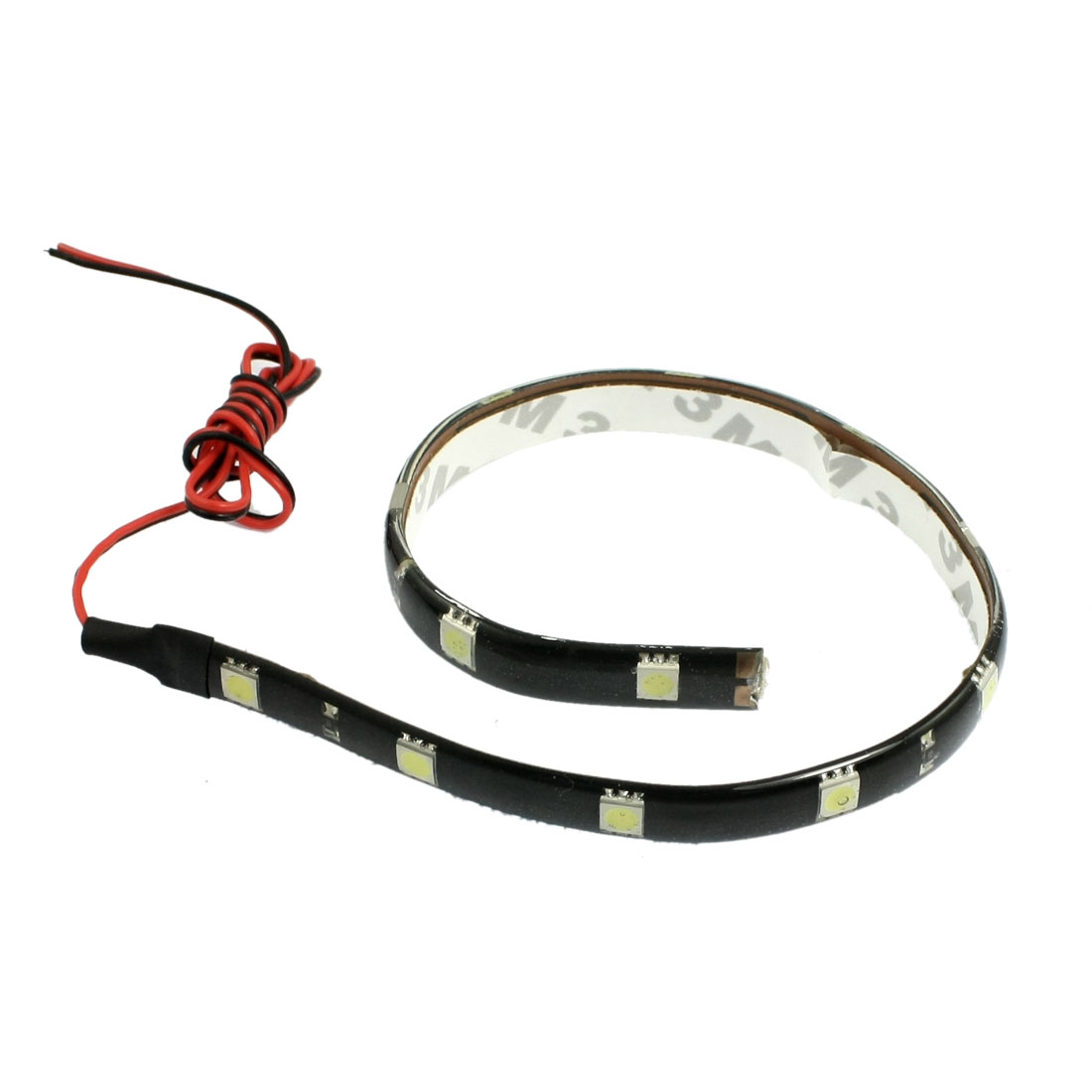 Car Auto DC 12V 5050 SMD White 12-LED Strip Light Lamp 30cm