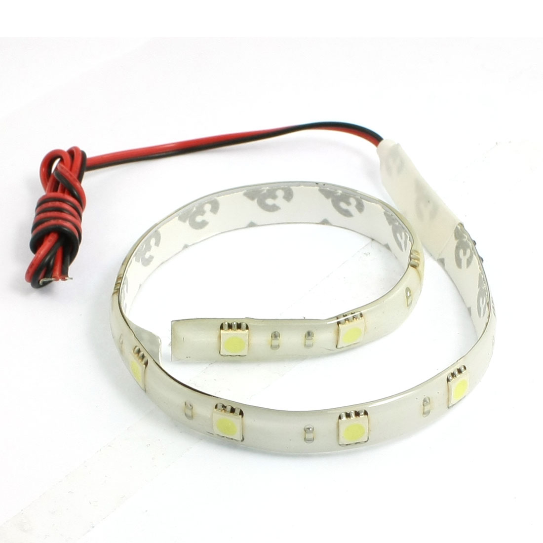 "DC 12V 30cm 12"" White 5050 SMD 12-LED Flexible Strip Light Lamp"