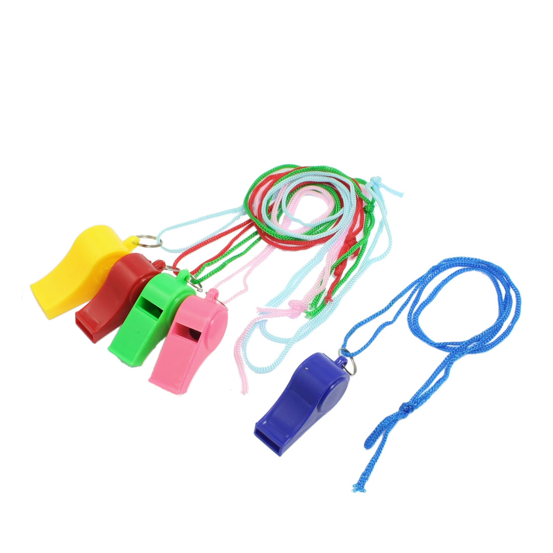 Sports Referee Game Multi Color Plastic Whistle Toy 5 Pcs