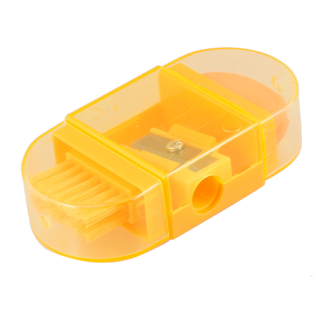 Orange Clear Plastic Case Multifunctional Pencil Sharpener for School