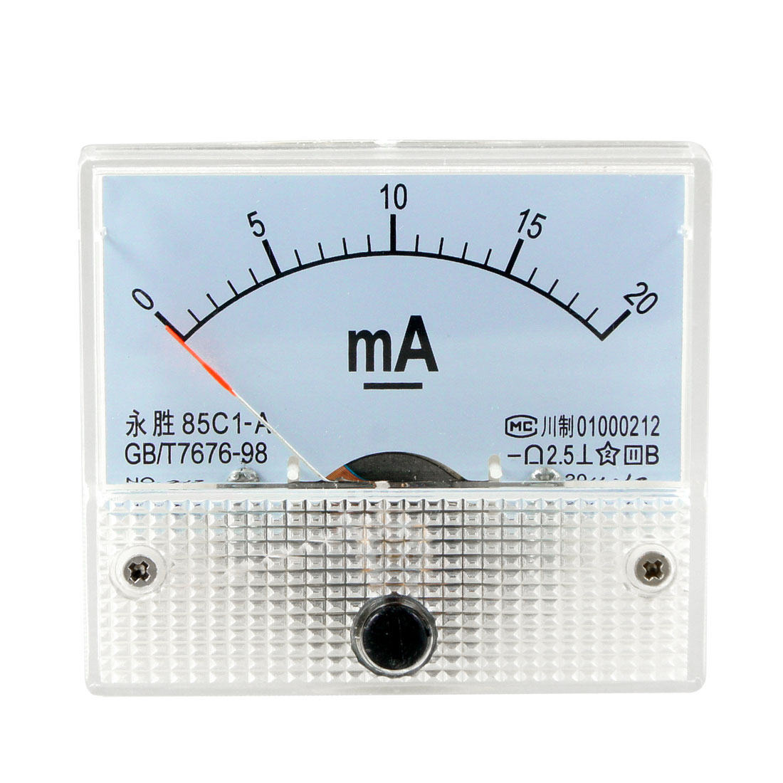 0-20mA DC Current Analog Panel Meter Ammeter Amperemeter Off White