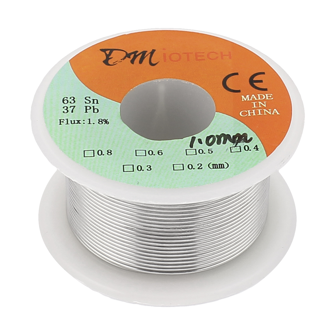 DMiotech 1mm 63/37 Rosin Core Flux 1.8% Tin Lead Roll Soldering Solder Wire Reel