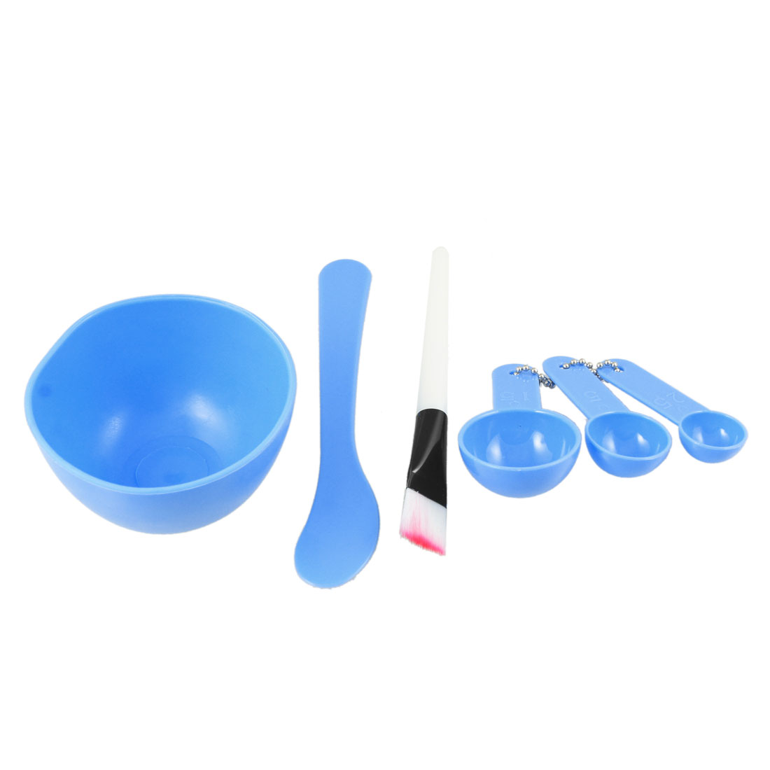 Lady Blue Plastic 4 in 1 DIY Facial Beauty Mask Bowl Beauty Cosmetic Set