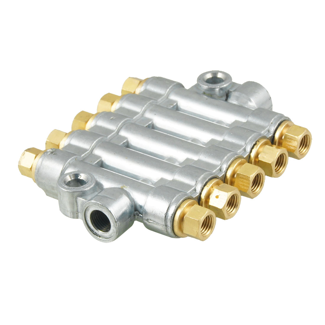 Air Pneumatic Aluminium Adjustable 5 Ways Distributor Block Manifold
