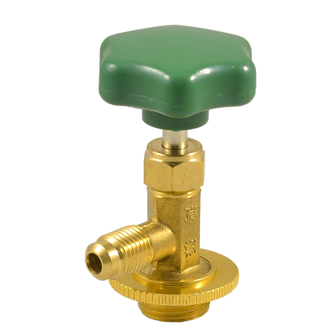 Gold Tone Metal Valve Bottle Opener for R134a Refrigerant
