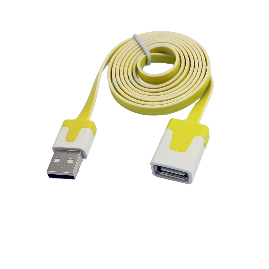 1M USB A Male to Female Repeater Extension Cable Yellow White