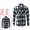 Men Simple Designed Point Collar Button Up Front Autumn Shirt M
