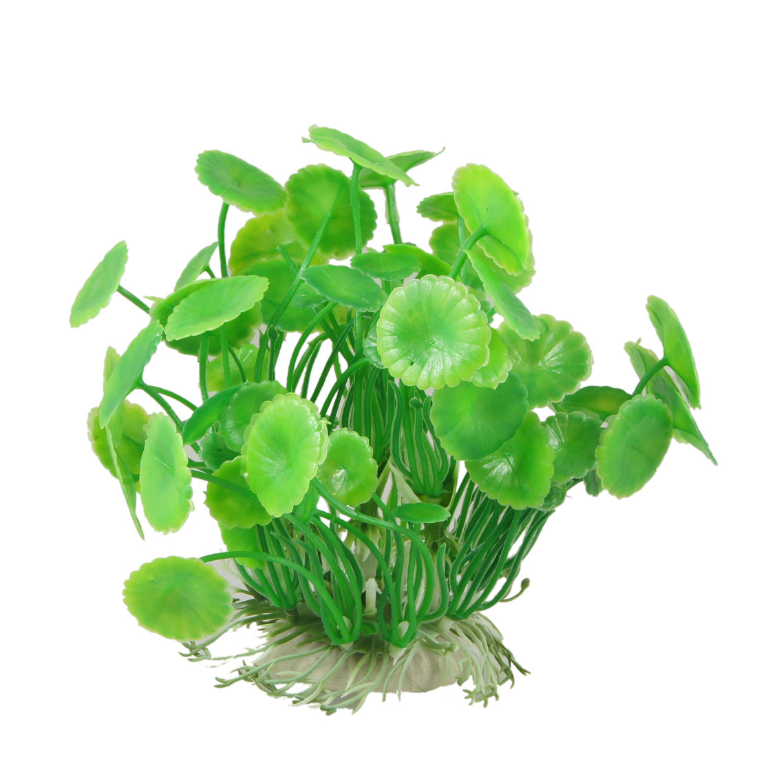 "5.3"" High Green Manmade Lotus Leaves Water Plant for Fish Tank Aquarium"