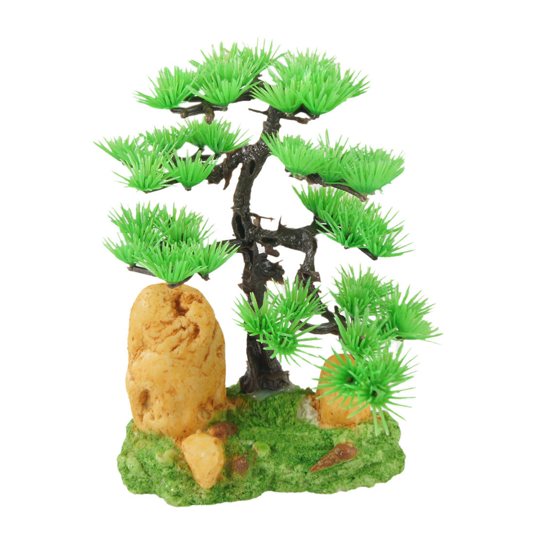 "Aquarium Landscaping 6.7"" Height Green Manmade Pine Tree Decor Water Plant"