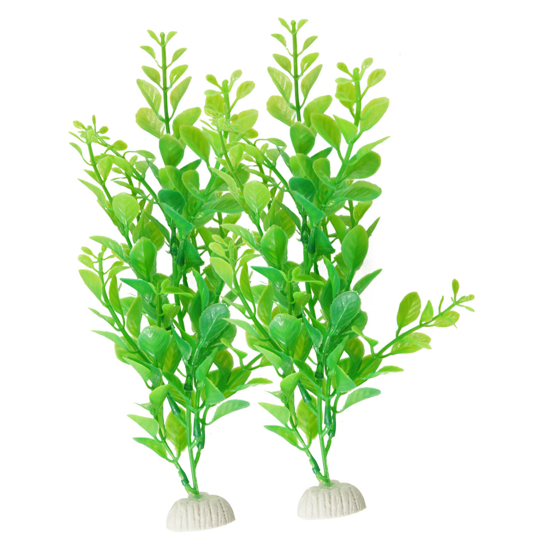"9"" High Green Manmade Water Plant Grass 2 Pcs for Fish Tank Aquarium"