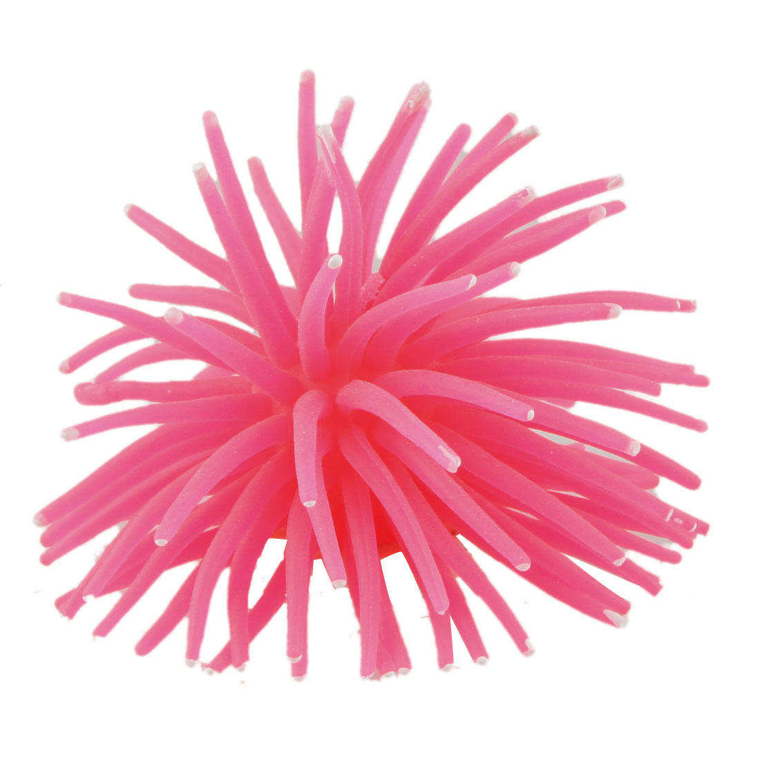"3"" Dia Hot Pink Soft Silicone Artificial Coral Decor for Fish Tank"